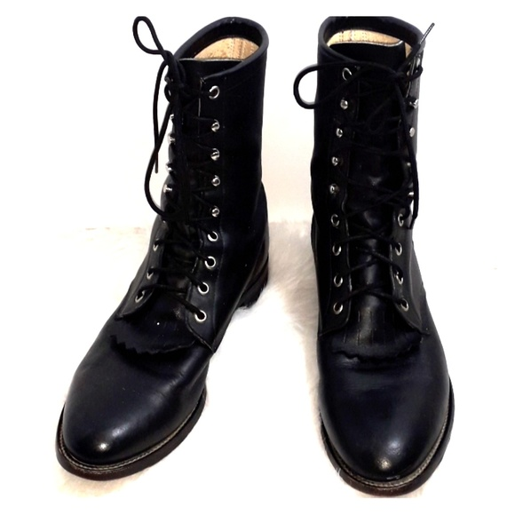 ffc810f78d1eb Justin vintage leather combat boot